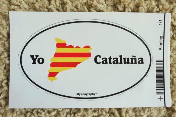 Catalonia bumper sticker spanish