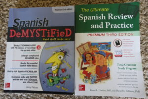 Spanish grammar books